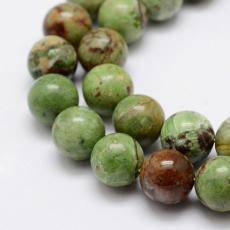 zöld opál 10 mm szál