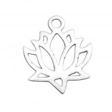 lótuszvirág medál vagy fityegő rozsdamentes acél
