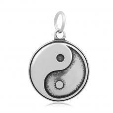 rozsdamentes acél jin-jang medál