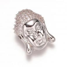 cirkonia Buddha fej köztes ezüst