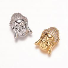 cirkonia Buddha fej köztes arany