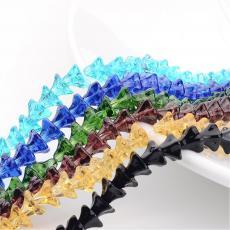 virág alakú gyöngy 10 db világos topáz
