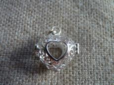 angyalhívó medál 925 filigrán szív