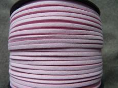 babarózsaszín hasított műbőr szál 1 m