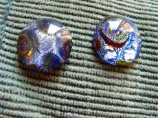 ezüst fóliás kabochon zafírkék