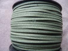 sötétzöld hasított műbőr szál 1 m