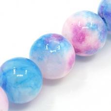 kék-pink foltos jade utánzat 8 mm