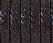 10x5,5 mm fonott bőr karkötő alap sötétbarna 1 cm