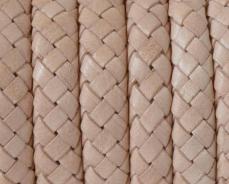 10x5,5 mm fonott bőr karkötő alap natúr 1 cm
