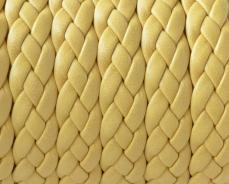 fonott bőr karkötő alap sárga 1 cm