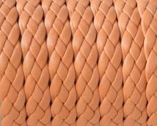 fonott bőr karkötő alap sötét barack 1 cm