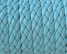 fonott bőr karkötő alap kék 1 cm