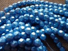 csiszolt gyöngy 6mm matt gyöngyház türkizkék 25 db