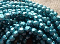 csiszolt gyöngy 6mm matt gyöngyház kékeszöld 25 db