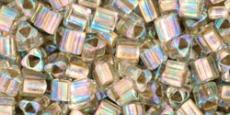 Toho triangle 8/0 arany közepű irizáló kristály 10 gr