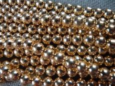 szintetikus hematit gyöngy 8 mm 10 db arany színű