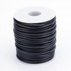 kaucsuk nyaklánc alap fekete 2 mm 1 m