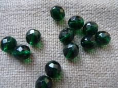 csiszolt gyöngy 12 mm: emerald 4 db