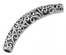 filigrán antik ezüst színű cső köztes