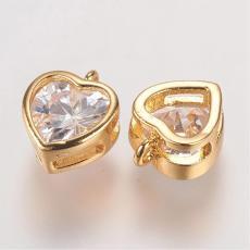 Cirkonia szív medál arany