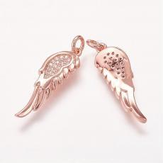 cirkonia szárny medál rose gold