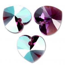 10 mm szív függő amethyst shimmer