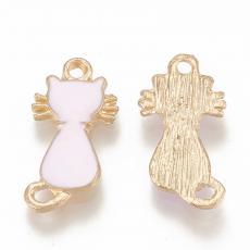 rózsaszín cica medál
