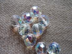csiszolt gyöngy 12 mm: kristály AB 4 db