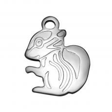 mókus medál rozsdamentes acél