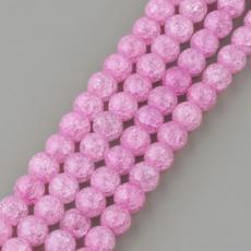 roppantott hegyikristály utánzat 8 mm rózsaszín szál