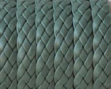 fonott bőr karkötő alap sötétzöld 1 cm