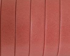10 mm bőr karkötő alap korallpiros 1 cm