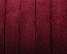 10 mm velúrbőr karkötő alap bordó 1 cm