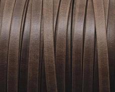5 mm bőr karkötő alap matt sötétbarna 20 cm