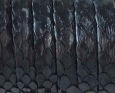 9 mm piton kígyóbőr karkötő alap fekete 1 cm
