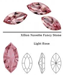 4228 Navette 15 x 7 mm light rose