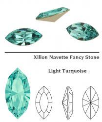 4228 Navette 15 x 7 mm light turquoise