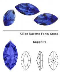 4228 Navette 15 x 7 mm sapphire