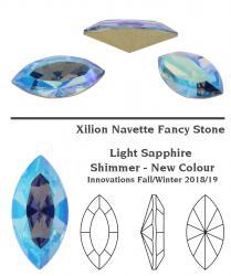 4228 Navette 15 x 7 mm light sapphire shimmer
