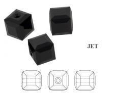 5601 kocka gyöngy 6 mm: jet