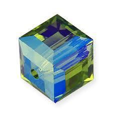 5601 kocka gyöngy 6 mm: olivine AB