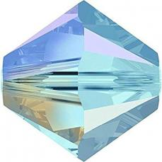 sw bicone 4 mm aquamarine shimmer 2x