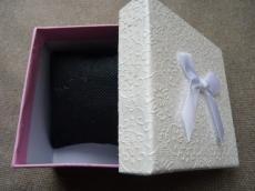 ajándékdoboz karkötőhöz: párnás rózsaszín másodosztályú