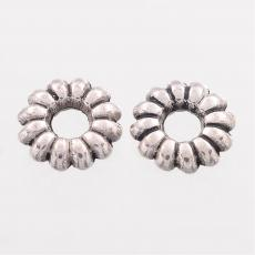 antik ezüst kicsi virág köztes 30 db