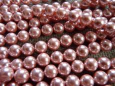 kagylógyöngy kb. 8 mm 1 db rózsaszín szál