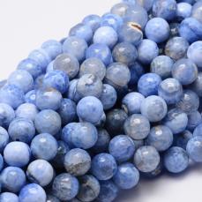 fazettált tűzachátként ismert hevített achát 10 mm kék