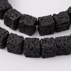 fekete lávakő kocka kb. 8-9 mm