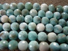 larimar fazettált gyöngy 8 mm szál