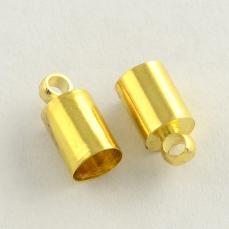 bőr végzáró 2 mm 4 db arany