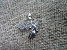 925 ezüst cirkonia angyal medál